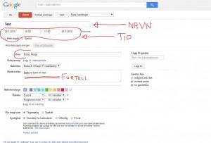 Google-kalenderen