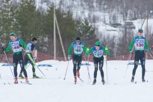 Ivrige skiløpere fra arrangørklubben